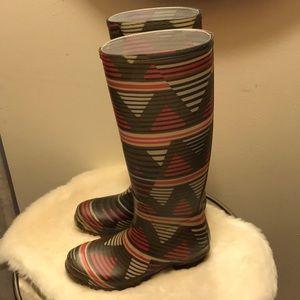 Authentic Missoni Rubber Rain Boots, Size 37